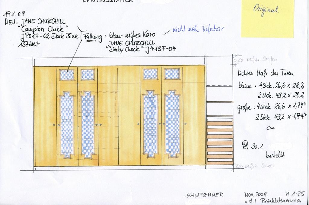 Einbauschrank Entwurf